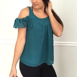 • Maeve • Anthropologie Cold Shoulder Blouse